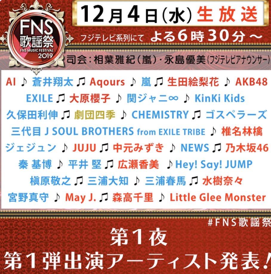 FNS歌謡祭2019画像1