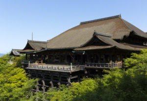 今年の漢字発表の清水寺画像